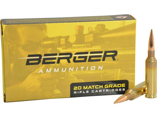 Berger 6mm Creedmoor Ammunition 20020 105 Grain Hybrid Target 20 Rounds