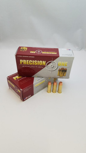 Precision One 44 Mag Ammunition *Seconds* 240 Grain Full Metal Jacket Point 50 Rounds