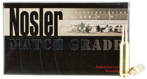 Nosler 22 Nosler Ammunition Match Grade 60016 77 Grain Custom Competition 20 Rounds