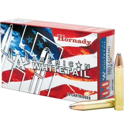 Hornady 350 Legend Ammunition H81196 American Whitetail 170 Grain Interlock 20 Rounds