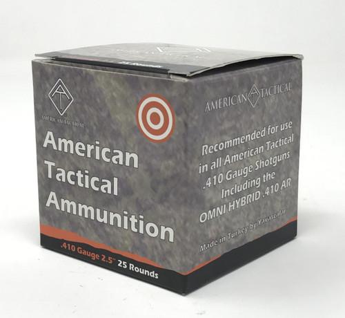 "American Tactical 410 Bore Ammunition ATIAYAV410RSBX 2.5"" Rifled Slug 1476 Fps 25 Rounds"