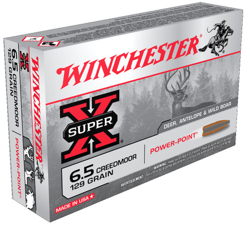 Winchester 6.5 Creedmoor Ammunition Super-X 129 Grain Power Point 20 Rounds