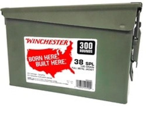 Winchester 38 Special Ammunition WW38C 130 Grain Full Metal Jacket Can 300 Rounds