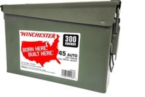 Winchester 45 ACP Ammunition WW45C 230 Grain Full Metal Jacket 300 Rounds