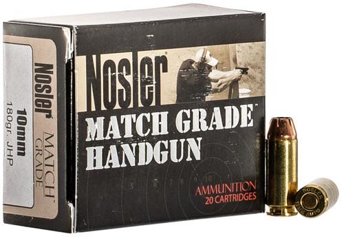 Nosler 10mm Ammunition 51400 Match Grade 180 Grain Hollow Point 20 Rounds