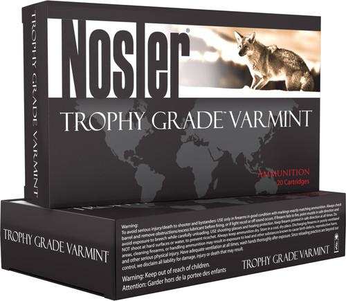 Nosler 223 Rem Ammunition 60004 Trophy Grade Varmint 35 Grain Frangible Ballistic Tip Lead Free 20 Rounds