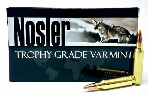 Nosler 22 Nosler Ammunition 60015 Trophy Grade 55 Grain Ballistic Tip 20 Rounds