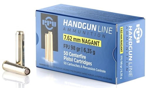 Prvi Partizan 7.62 Nagant Ammunition PPH762N 98 Grain Jacketed Flat Point 50 Rounds