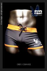 Iron Eagle Low Rise Trunks  - grey/orange