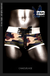 Iron Eagle Low Rise Briefs  - camo mesh