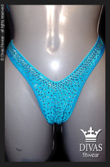 Cross Back Figure Suit  'Aqua'