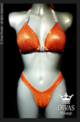 Cross Back Figure Suit  'Orange'