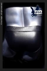 Iron Eagle Classic Physique Trunks  - Black High Gloss Wetlook