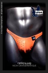 Iron Eagle Crystalized Posing Trunks - NEON Orange Mystique©