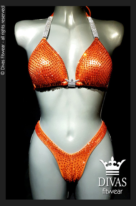 Cross Back Figure Suit  'Orange'