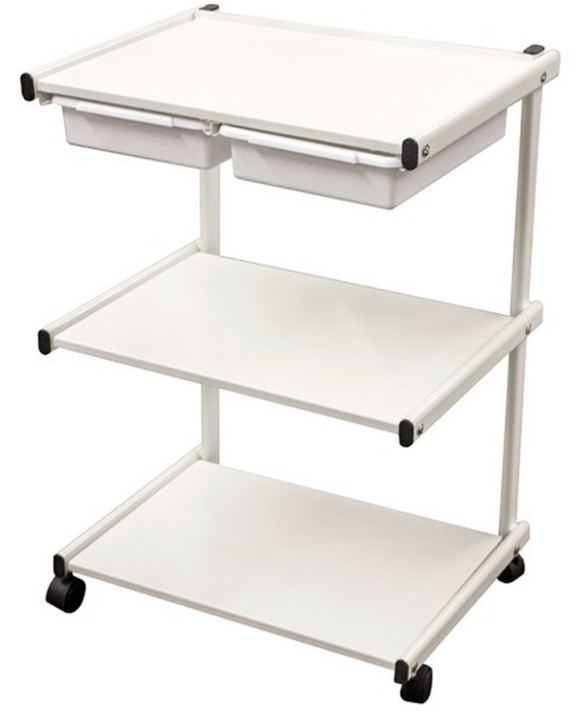 SPA SOURCE - Metal Trolley with Plastic Drawers