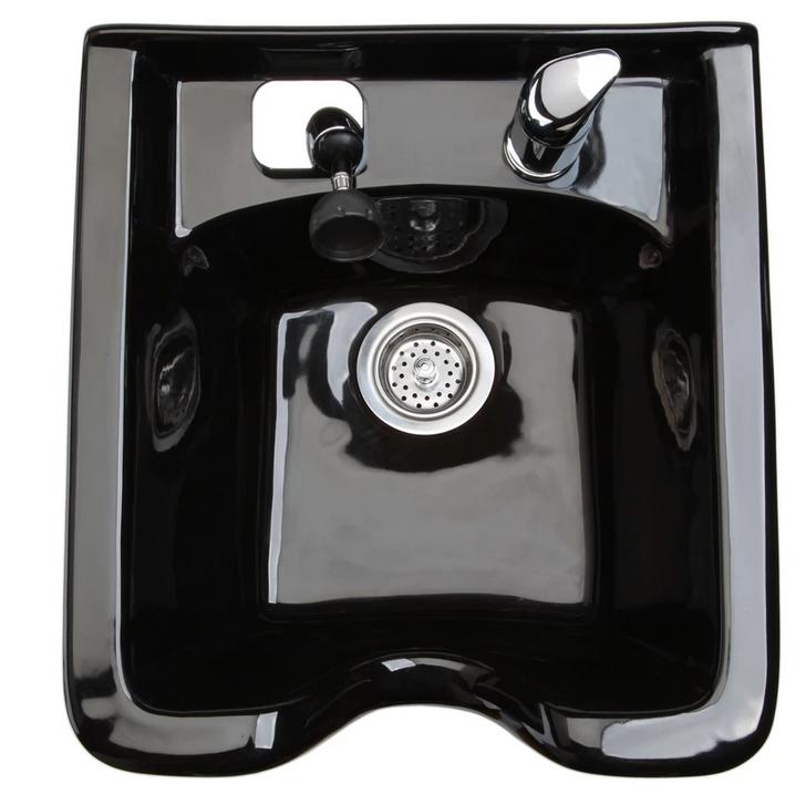 SPA SOURCE - Square Porcelain Shampoo Bowl