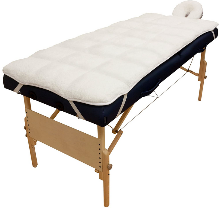 Spa Source - Reversible, Massage Table, Quilted Fleece, Pad Set,  lint free, body linen, soft and cushy, disposables, massage table cover, massage bed cover, face cradle cover, washable pad set, two sided pad set, quilted polyester microfiber fleece,