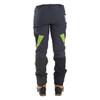Grey/Green Zero chainsaw pants back view