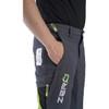Grey/Green Zero chainsaw pants pocket view