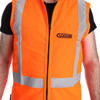 Clogger day/night vest front view chainsaw protection vest