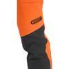 Clogger Hi-Vis Orange Zero Women's Chainsaw Pant front knee view