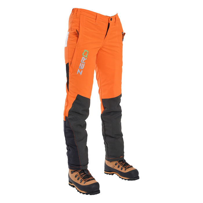 Clogger Hi-Vis Orange Zero Women's Chainsaw Pant angle view