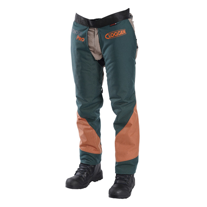 Clogger DefenderPRO chaps Arborist Edition angle view