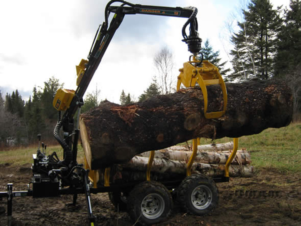 9' Log Forwarding Trailer - Fully Equipped