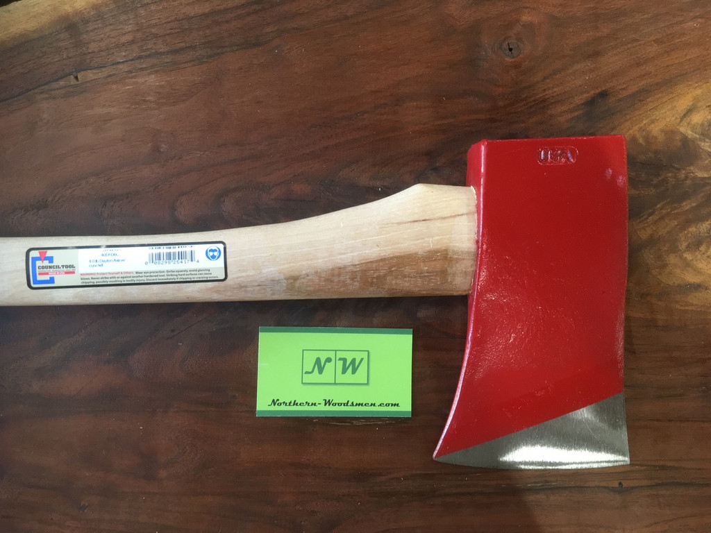 """Council Tool 4# Dayton Pattern SB Axe w/ 36"""" Curved Handle"""