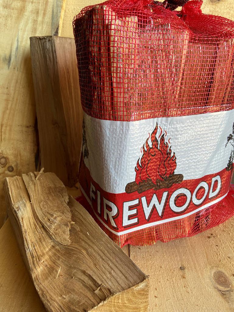 100 1.0 CF Mesh Bags w/ Firewood Label