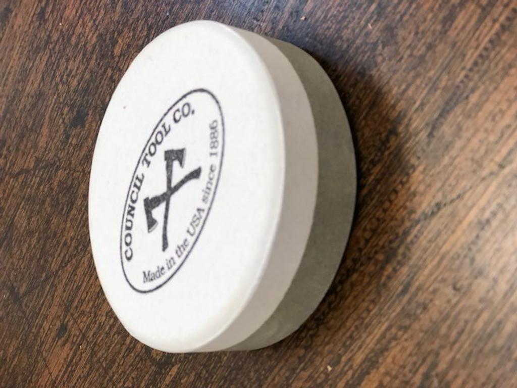 Council Tool  80-PUCK dual grit sharpening ceramic stone puck