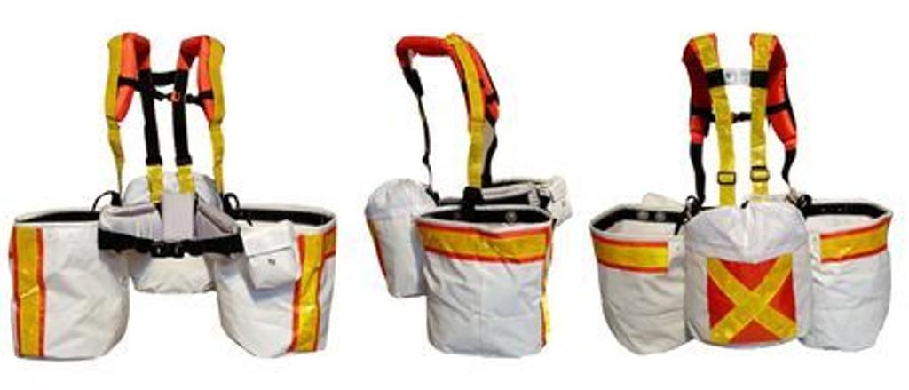 Bushpro 3 Pouch Component Planting Bags - HI-VIS