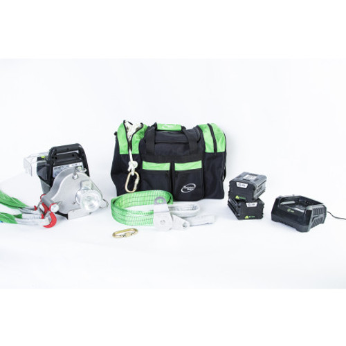 Portable Winch PCA-3000 Kit w/ Batteries, Charger, Accessories