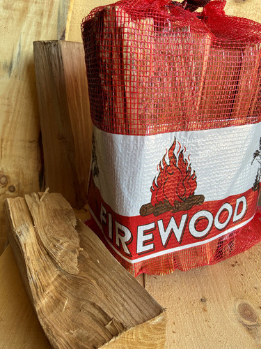 1.0 CF 21x25 Mesh Firewood Bag - RED
