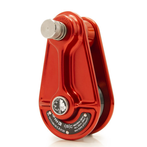 "ISC RP050 Red Small Rigging Pulley for 1/2"" Rope"