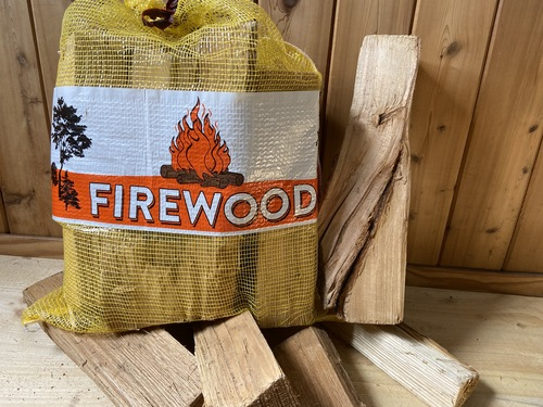 1.0 CF 21x25 Mesh Firewood Bag - YELLOW