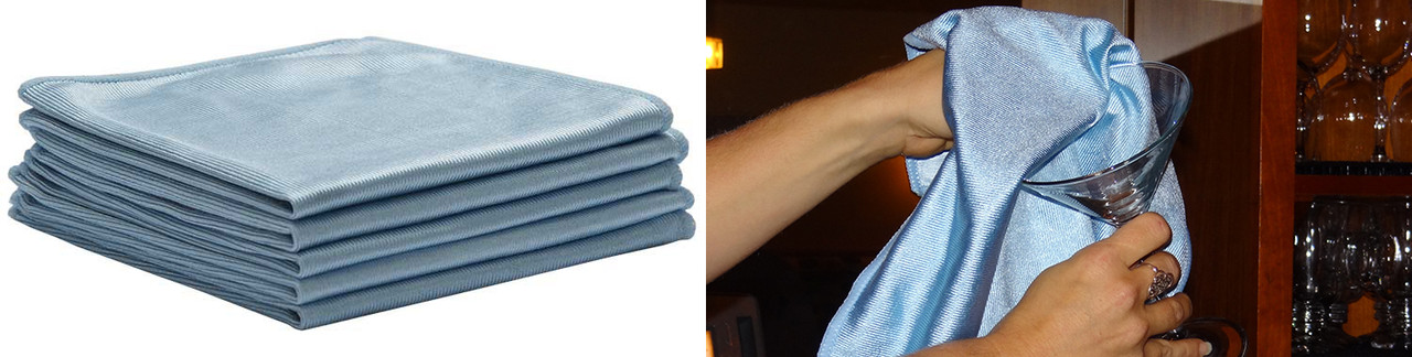 Microfiber Glass Cleaning Cloths