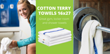 Medium Weight Cotton Terry Athletic Towels Are The Perfect Work Out Towel