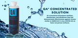 QA Concentrated Solution is a Sanitizer, Disinfectant, and Deodorizer!
