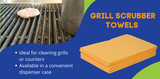 Get Cleaning with Orange Grill Scrubber Towels!