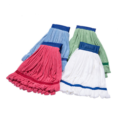 Microfiber Mops Tube Style, shown flat with one of each color