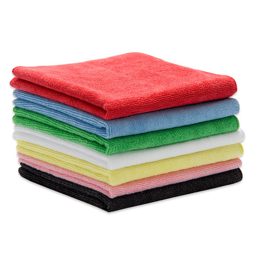 Bulk 50 Pack Microfiber Towels Heavyweight lint-free cleaning cloths