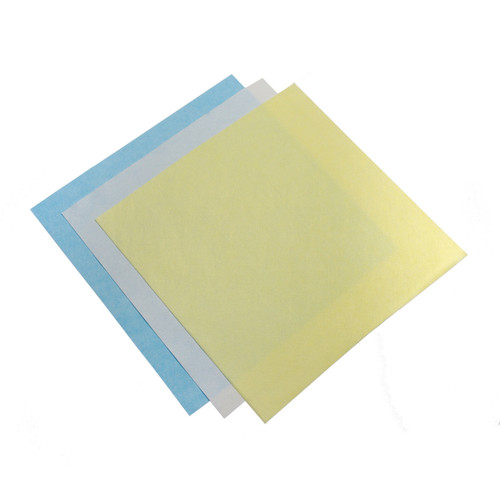 Non-Woven Microfiber Cloths case of 500 13x13 c, shown flat with one of each color