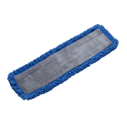 Microfiber Fringe Dust Mop Pads With Canvas Back, shown flat