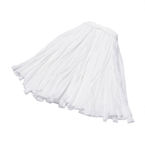 Disposable Strip Mops White, shown flat