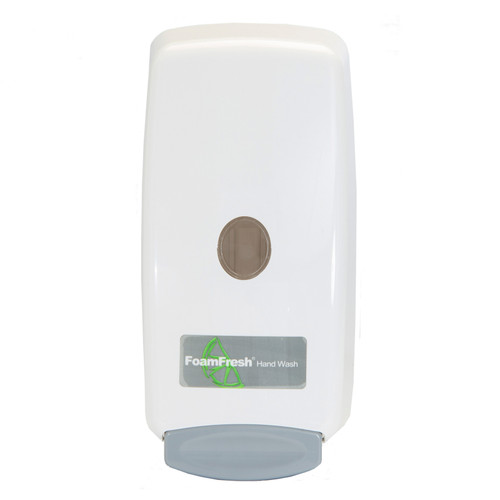 Hand Sanitizer Foam Dispenser White, shown head-on
