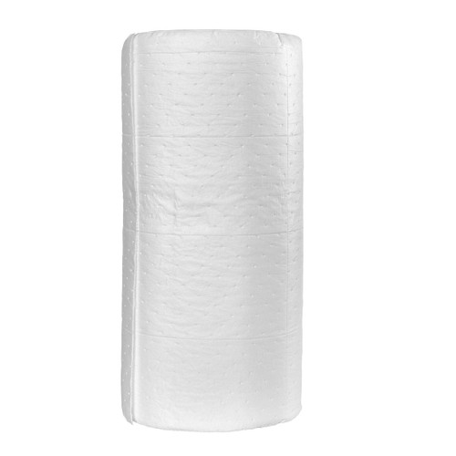 Oil Only Absorbent Roll 30 Inches x 150 Feet White, shown in a roll