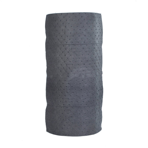 Universal Absorbent Roll 30 Inches x 150 Feet Gray, shown in a roll