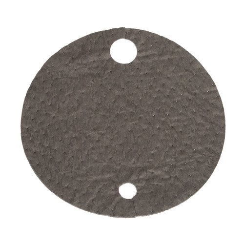 Universal Absorbent Drum Tops 22 Inch Gray, shown flat
